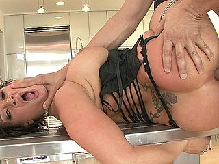 Tory Lane receives some anal gratification this day.  It appears to be that babe receives wilder each time with each piece of underware that that babe sheds.  Michael sucks on her large love melons during the time that this babe sucks his rod, then plugs her butthole with his large weenie in advance of giving her a creampie gift.