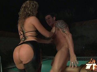 Big booty bikers not far from having group anal sex not far from latex