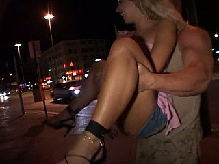 European good ass gets fucked outside, atop cam