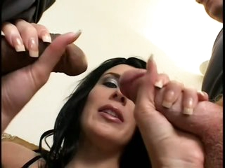 Horny Preggo Honey Takes On Two