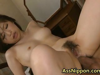 Hot  Asian dolly gets anus fingering with an increment of fucking