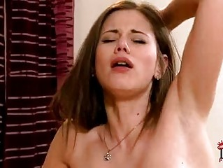 Heavy chested blonde and darksome haired lezzie doing 69 on couch