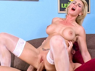 Tanya hears about her daughters bf's schlong and wants a ride!