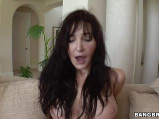 A brunette woman is riding a darksome guy's cock, then she acquires on her side and acquires boned. Then, she's being picked up in his arms and acquires fucked. How and where will she continue to get fucked? Will she swallow his semen?
