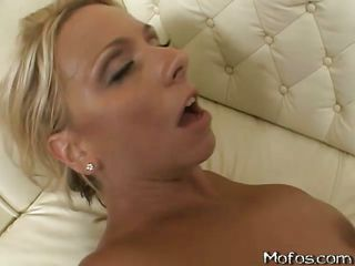 hot blondy acquiring drilled nigh say no to taut vagina