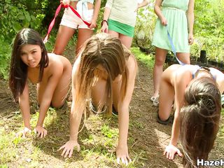 lesbian domination outdoors in the air naked bitches