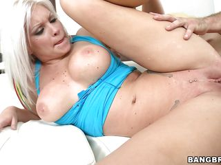blond with tight ass and hot round boobs getting screwed