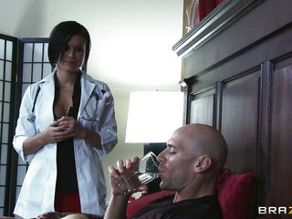 The patient is impressed with the sexy sexy doctor's care and praises her so much. That guy asks her to take all the specie kept in drawer. This babe wants to put a pillow at her back as this babe removes the blanked this babe is amazed by watching the big hard cock, he asks her to help him out in this sort of situation.