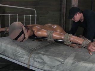 tied, oiled and willing for deep penetration