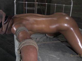 tied, oiled and ready for gaping void penetration