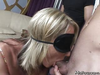 blindfolded cock-tasting