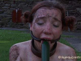 The worthless whore Maggie digs a gap to accept thither it. She has a pulchritudinous mouth and a sexy body bank she is harmful and her good-looking face dejected spread by a bondage device. After Maggie finishes digging she needs to suck rub-down the end of rub-down the shovel and then acquire her hairless pussy filled with it. That's relevant Maggie, you know you're place