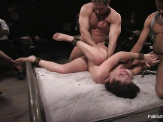 watch bobbi starr team-fucked not susceptible a mattress