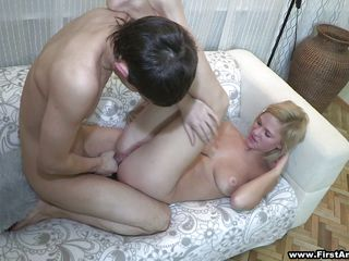 hawt blonde neonate is getting her ass fucked