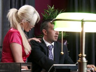 hot blond makes boss horny