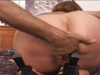 large booty gilf in hot three-some