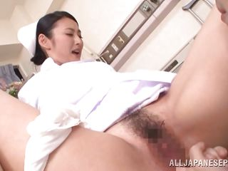 japanese attend to with a unshaved pussy