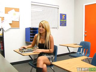 blonde babe receives caught added to punished really hard.