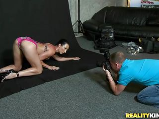 The hottest milf is in town for her latest cover for a health magazine! Joining her is the young yet concupiscent photographer who is very determined to make his model bare it all in front of his lens! With a little flirting, compliment and persuasion, he receives to take the consummate discharged of her boobs!