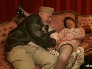 three dudes come and chastise hot milfs