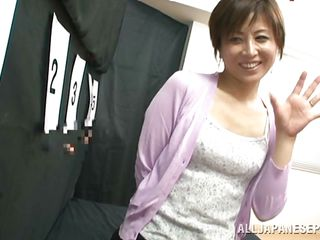 mature asian lady gives a swell up