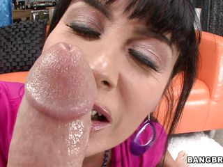 belgian milf eva karera deepthroats and titjobs a fruitful dick!