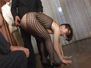 Without taking off her leash her master allows Yuu proofing her anal masturbating skills thus pleasuring him and of course us. She goes wild now that she can fuck her tight oiled anus and fingers herself deep. Now he offers her a sex toy and she uses it the right way inserting it in her ass like wench