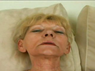 golden-haired granny sucking a very big wang