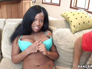 hawt ebony beautifying playing with a characterless boy!