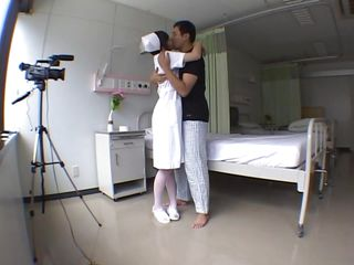 Yuu is at her workplace and this babe skips work for fucking. This babe is a pretty nurse and has some fun with me while I'm filming everything. This babe looks great with my jock betwixt her lips and maybe some jism on that slutty face will make her look better. Does her boss knows what she's doing, will this babe get punished for this?