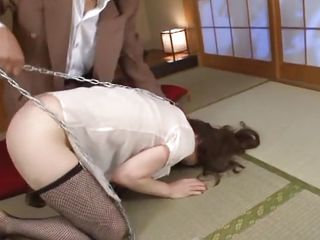 It's something about Japanese bitches and anal sex that drives us crazy. For sample this one, Yuu makes us horny only by the way this babe moans not to talk about seeing her big sexy ass and these hot thighs. Do you think Yuu deserves a harsher treatment, more humiliation and a deeper ass fucking?