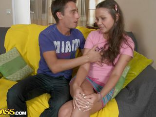 hard moan by a long haired legal age teenager