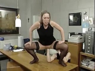 Vagina is fisted during the time that her ass is fucked
