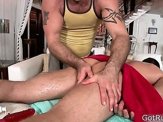 Hunky stud receives asshole rimmed 1 By GotRub