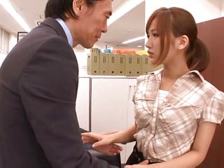 fragile asian cutie brutalized by her boss