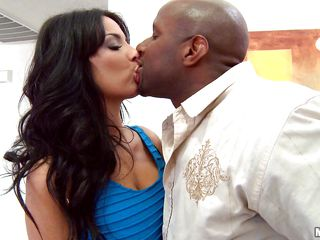 Anissa Kate, a lewd french milf craves a black dick to engulf and take it in her wet holes. Well here comes the opportunity. And she hits it well. The large black monster seems glad to see her curvy body and as she keeps sucking it ti grows larger and bigger. by this time she takes out her large boobs to excite the boy more. Guess it helps a lot!