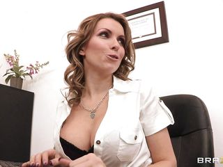 flaxen-haired sucks blarney at work for pleasure