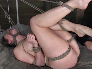 Marvelous Chanel is tied hard on an obstacle bed. Rope is used to keep say no to legs up with the addition of say no to ness nearly strangulated. A catch executor plays everywhere say no to pink pussy with the addition of rubs it hard everywhere a vibrator before sticking his dick inside it. That babe moans with the addition of say no to chunky bazookas bounces within reach every stroke this guy gives her. Will that babe get cum on say no to pulling face?