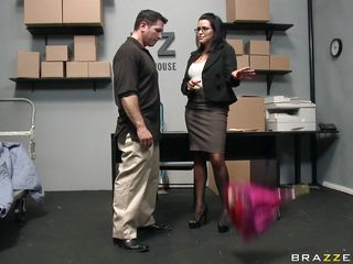 brunette is getting her tits slapped