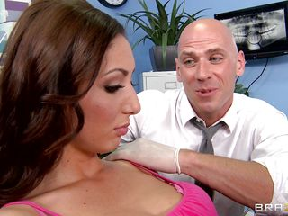 Angelica Saige goes to the doctor and gets extremely horny when this guy begins rubbing her taut pussy. She gets all wet and moans during the time that this guy is licking her clitoris and this babe begins touching her hot tits. Is this babe going to receive a big cock inside of her or will this babe receive some semen on her cunt?