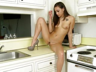 what a chick does in her kitchen