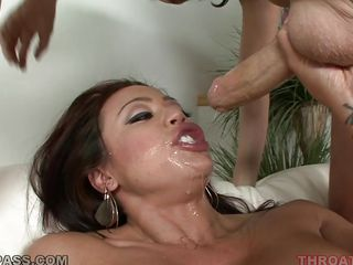 large tits mia lelani swallowing a cock