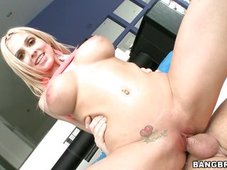 blonde babe christie stevens gets dicked and gagged!