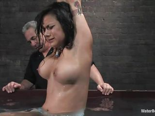 nadia styles receives dunked for punishment!