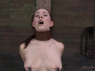 This cutie needs some punishment, that babe was a dirty slut and now the executor gives her a lesson hard to forget. After he tied her hard on that post the guy opened her mouth and inserted his cock all the way in her throat. The bitch received a deep mouth fuck whilst getting her pussy rubbed and now that babe needs more