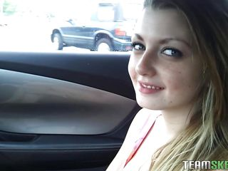 hawt lascivious slut masturbating in the car and walking stripped