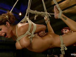 bound francesca le gets pleasured unconnected with maitresse madeline