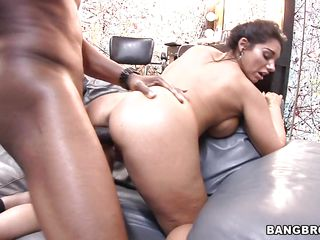 bella acquires her cum-hole stretched together with her face hole filled!
