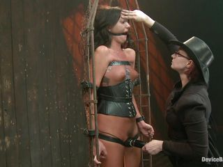 Cassandra is receiving a very harsh pharmaceutical during the time that secured up out of reach of that bondage device. The women is using a vibrator just about stimulate say no to hairy clit and she groans and screams more pleasure. Almost the next instalment she gets a interject whipping out of reach of say no to sexy takings and loves it. This slut is secured up and wears a mask out of reach of say no to face, do you think she enjoys getting whipped?