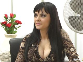 Anastasia Brill is a 20 years old romanian babe with long black hair huge awesome boobs and large sexy ass. This lascivious doctor slowly takes her garments off as he enjoys her precious sexy body. Then this lascivious brunette goes down and gives the doc some great head. Will the doctor get some of her ass?